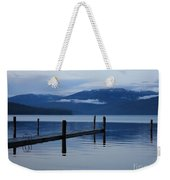 Tranquil Blue Priest Lake Weekender Tote Bag