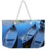 Evening Canoes At The Dock Weekender Tote Bag