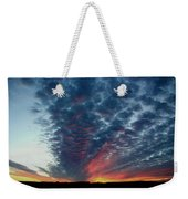 Evening Sky In Kansas Weekender Tote Bag