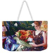 Evening Coffee Weekender Tote Bag