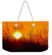 Evening Dunes Impasto Weekender Tote Bag