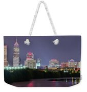 Evening Falls On Indianapolis Weekender Tote Bag