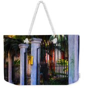 Evening Fence And Gate - Nola Weekender Tote Bag