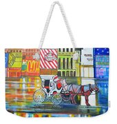 Evening In New York Weekender Tote Bag