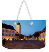 Evening In Sibiu's Grand Square Weekender Tote Bag