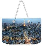 evening in Tokyo Weekender Tote Bag