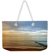Evening Light On Shanklin Beach Weekender Tote Bag