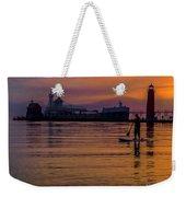 Evening On Lake Michigan At Grand Haven Weekender Tote Bag