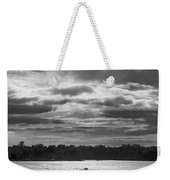 Evening On South River - Bw Weekender Tote Bag