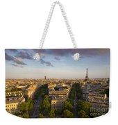 Evening Over Paris Weekender Tote Bag