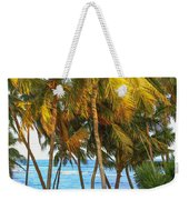 Evening Palms In Trade Winds Weekender Tote Bag