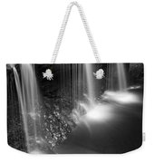 Evening Plunge Waterfall Black And White Weekender Tote Bag