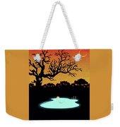 Evening Pool Weekender Tote Bag