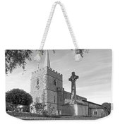 Evening Prayers In Black And White Weekender Tote Bag