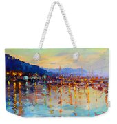 Evening Reflections In Piermont Dock Weekender Tote Bag