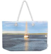 Evening Sail In Frenchman's Bay Weekender Tote Bag