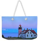 Evening Skies Of Green Weekender Tote Bag