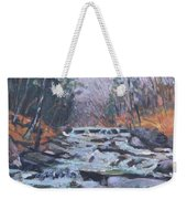 Evening Spillway Weekender Tote Bag