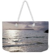 Evening The Isle Of Eigg  Inner Hebrides From The Beach At Arisaig Scotland Weekender Tote Bag