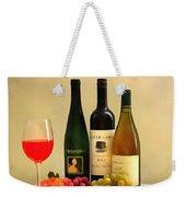 Evening Wine Display Weekender Tote Bag