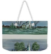 Evening Worship In Winter And Summer Weekender Tote Bag