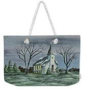 Evening Worship In Winter Weekender Tote Bag