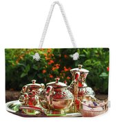 Event - Tea Garden Party Silver Sevice Weekender Tote Bag