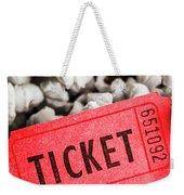 Event Ticket Lying On Pile Of Popcorn Weekender Tote Bag