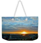 Everett Marina Sunset Weekender Tote Bag
