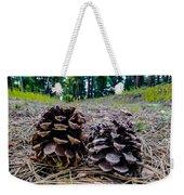 Evergreen Pinecones Weekender Tote Bag