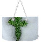 Evergreen Snow Cross Weekender Tote Bag