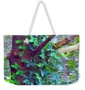 Evergreen Tree With Green Vine Weekender Tote Bag