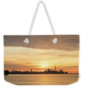 Every Morning Is Different - Toronto First Sunrays In Cyber Yellow  Weekender Tote Bag