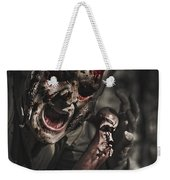 Evil Male Zombie Screaming Out In Bloody Fear Weekender Tote Bag