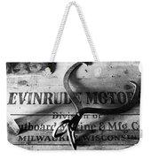 Evinrude Motors Crate Circa 1940s Weekender Tote Bag