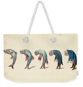 Evolution Of Fish Into Old Man, C. 1870 Weekender Tote Bag