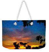 Exagerated Sunset Painting Weekender Tote Bag