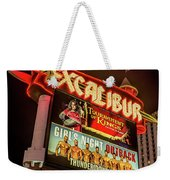 Excalibur Casino Sign Night Weekender Tote Bag