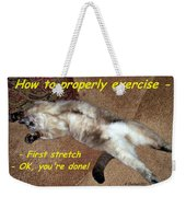 Exercise 101 Weekender Tote Bag