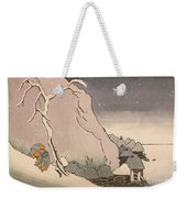 Exiled Buddhist Cleric Nichiren In The Snow Weekender Tote Bag