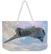 Exiting A Worm Hole Weekender Tote Bag