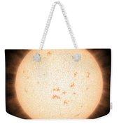 Exoplanet Hd 219134b In Front Of Star Weekender Tote Bag