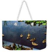 Exotic Birds Of America Ducks In A Pond Weekender Tote Bag