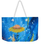 Exotic Colorful Flowers Abstract Composition Weekender Tote Bag
