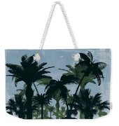 Exotic Palm Trees Silhouettes Water Color Weekender Tote Bag