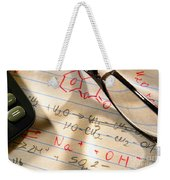 Experiment Notes In Applied Science Research Lab Weekender Tote Bag