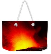 Exploding Lava At Night Weekender Tote Bag