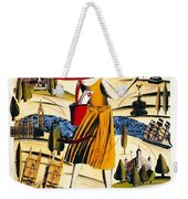 Explore London With A London Transport Explorer Pass - London Underground - Retro Travel Poster Weekender Tote Bag