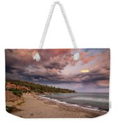 Explosion Of Colored Clouds Weekender Tote Bag
