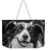 Expression Of A Border Collie Weekender Tote Bag